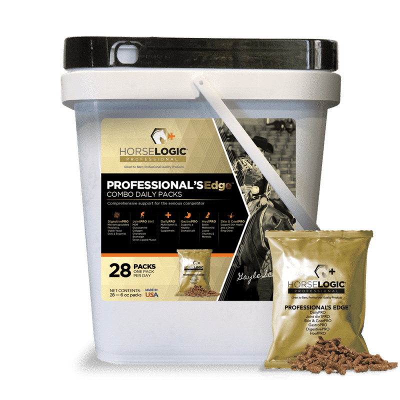 Professional's Edge bucket with golden daily pack in front