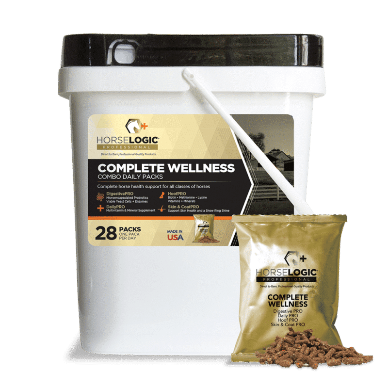 Complete Wellness bucket with golden daily pack in front