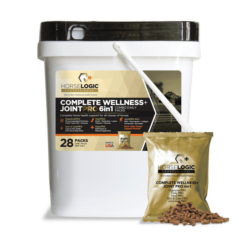 Complete Wellness and JointPRO 6in1 bucket with golden daily pack in front