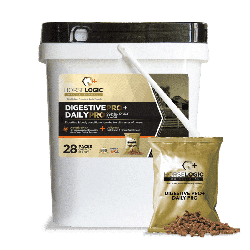 DigestivePRO and DailyPRO bucket with golden daily pack in front
