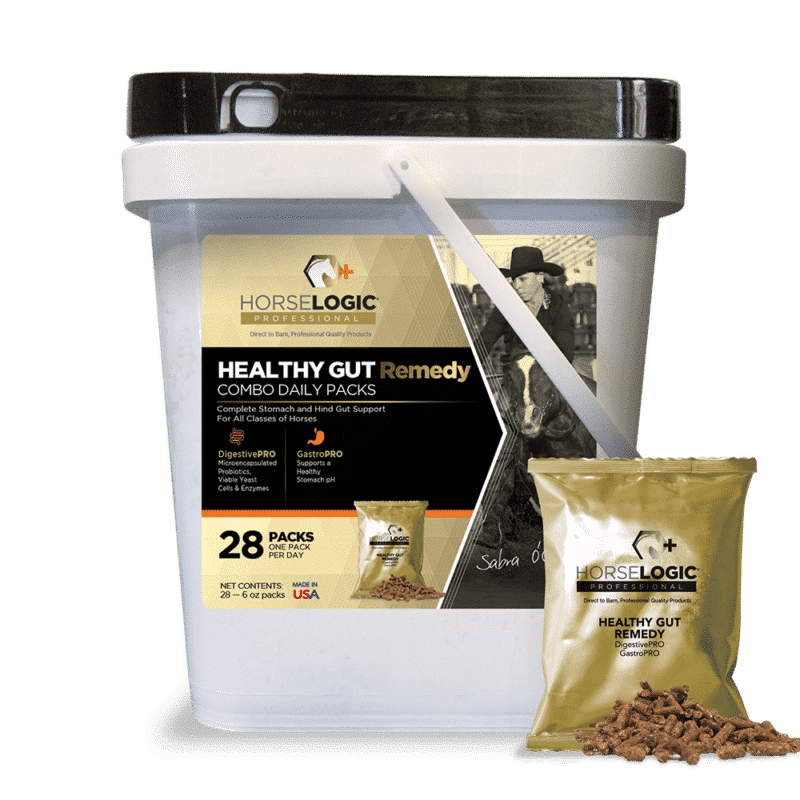 Healthy Gut Remedy bucket with golden daily pack in front