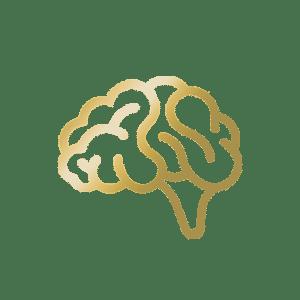 golden brain icon