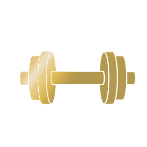 golden barbell icon