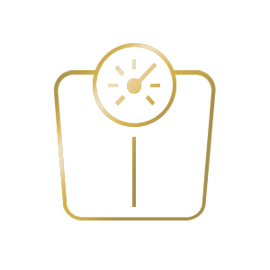 golden weight scale icon